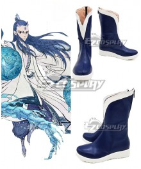Nezha Ao Bing Blue White Cosplay Shoes