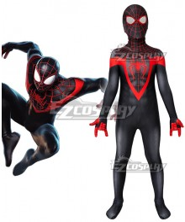 Kids Marvel Spider-Man: Miles Morales Zentai Jumpsuit Cosplay Costume