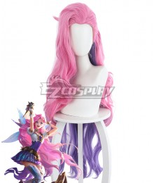 League Of Legends LOL The Starry-Eyed Songstress  Pink Cosplay Wig - 458QE