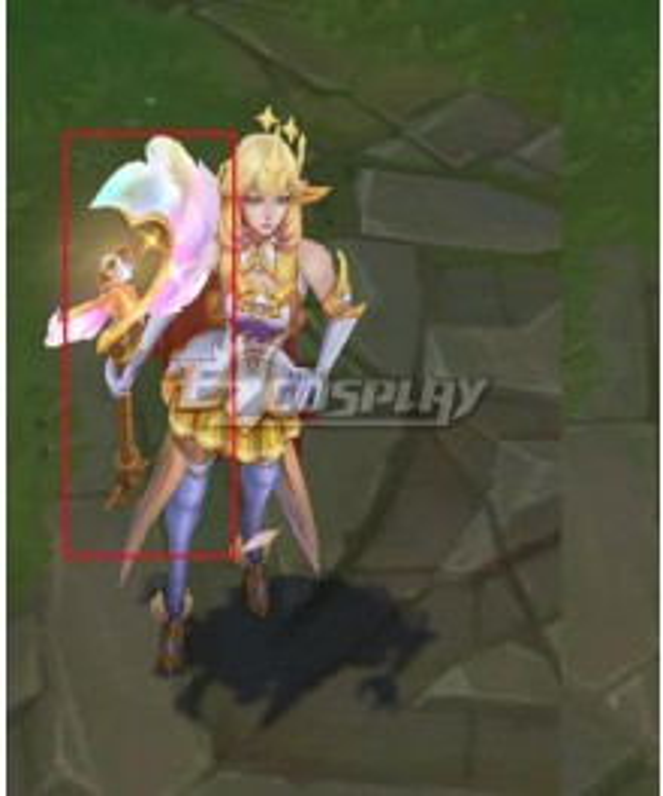 League of Legends LOL Star Guardian Prestige Soraka Cosplay Weapon Prop