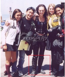Time Force Jen Scotts Black Shoes Cosplay Boots