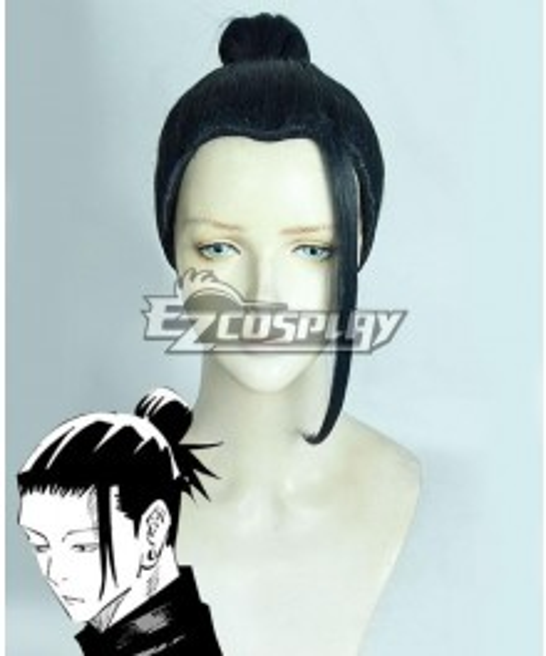 Jujutsu Kaisen Sorcery Fight Suguru Geto Young Version Black Cosplay Wig