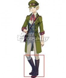 Ace Attorney Dai Gyakuten Saiban: Naruhodo Ryunosuke no Boken Gina Lestrade Black Shoes Cosplay Boots