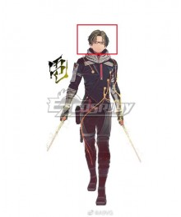 Scarlet Nexus Shiden Ritter Black   Cosplay Wig