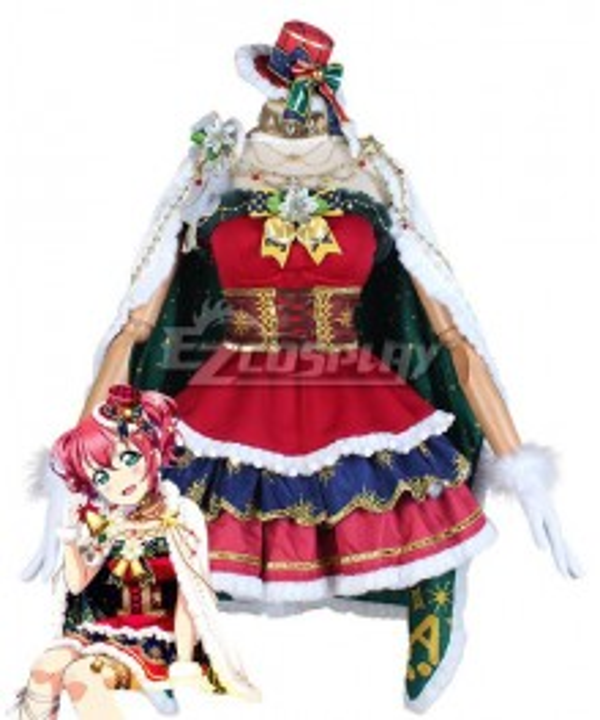 LoveLive! Sunshine! Aqours Ruby Kurosawa Christmas Cosplay Costume