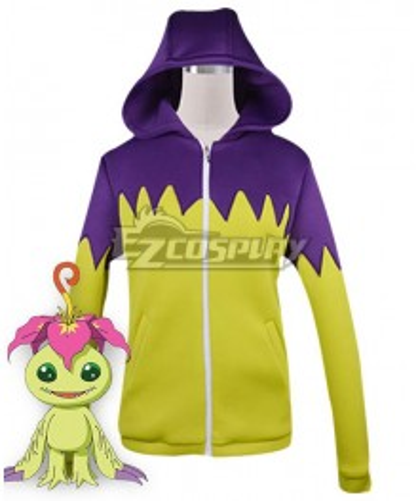 Digimon Adventure Palmon Digital Monster Sweater Cosplay Costume
