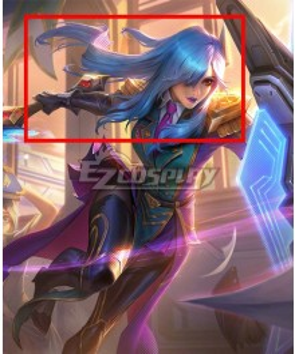 League of Legends LOL Battle Academia Leona Blue Cosplay Wig