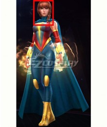 Marvel Future Fight Quasar Avril Kincaid Red Brown Cosplay Wig