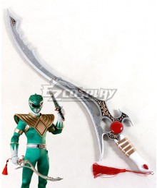 Mighty Morphin Power Rangers Green Ranger The Sword of Darkness Cosplay Weapon Prop