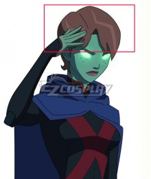 DC Young Justice Miss Martia Megan Morse Brown Short Cosplay Wig