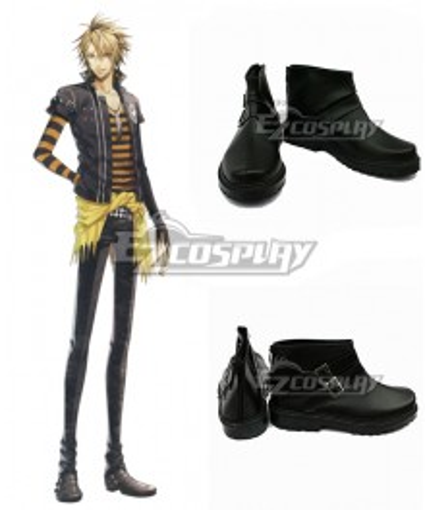 AMNESIA Toma Black Cosplay Shoes