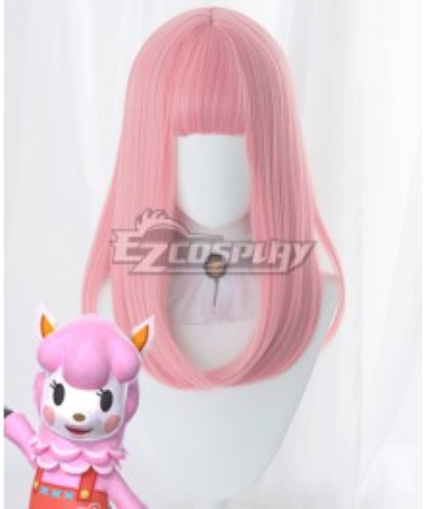 Animal Crossing: New Horizons Reese Risa Pink Cosplay Wig