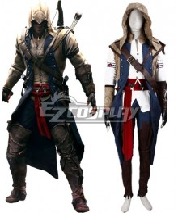 Assassin's Creed III Connor Render Cosplay Costume - Deluxe Version