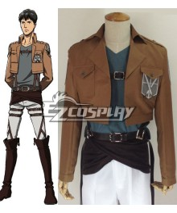 Attack on Titan Shingeki no Kyojin Bertolt Huber Training Corps Cosplay Costume