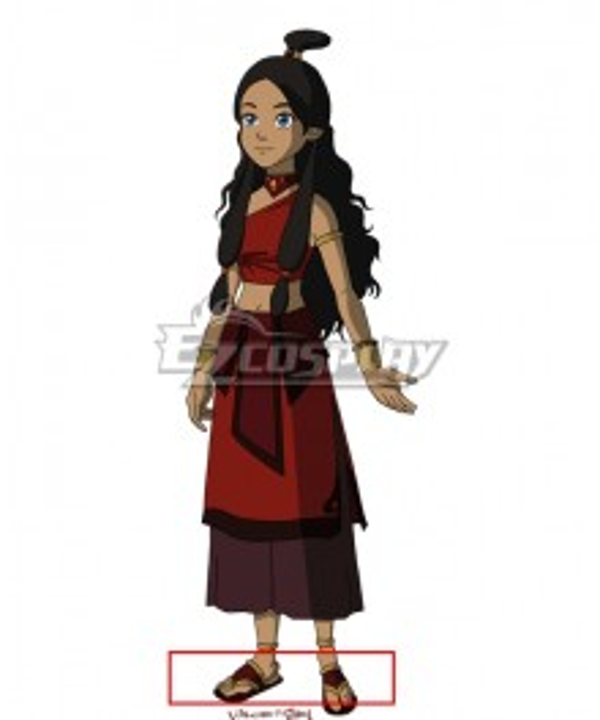 Avatar: The Last Airbender Katara Red Cosplay Shoes