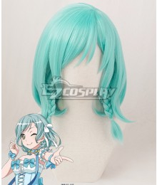 BanG Dream! Hikawa Hina Blue Green Cosplay Wig