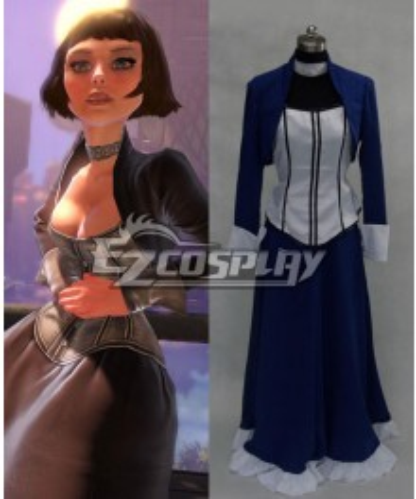BioShock 3 Infinite Elizabeth Blue Dress Cosplay Costume
