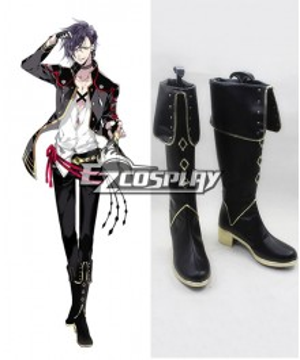 Touken Ranbu Akashi Kuniyuki Black Cosplay Shoes