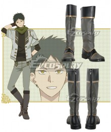 Snow White with the Red Hair kagami no Shirayukihime Obi Grey Shoes Cosplay Boots