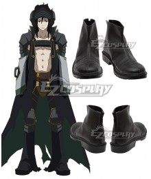 Rokka Braves of the Six Flowers Rokka no Yusha Goldov Auora Gorudofu Auora Black Cosplay Shoes