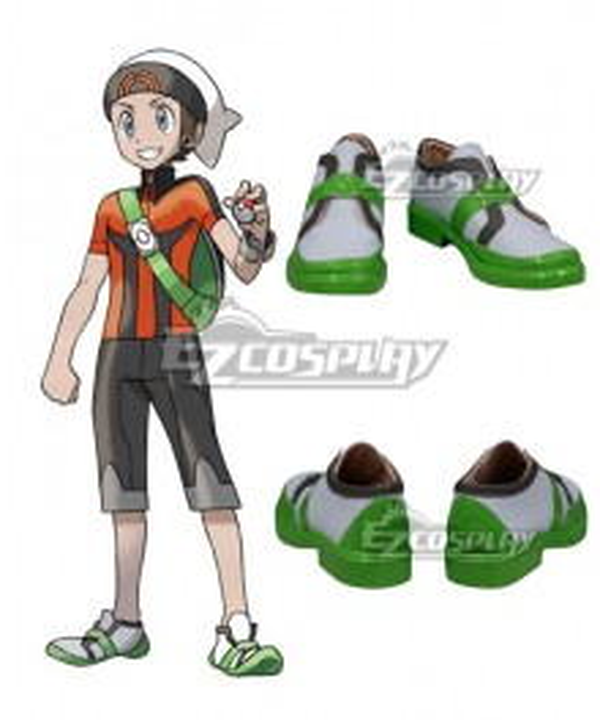 Pokemon Pocket Monster: ORAS Brendan Cosplay Shoes