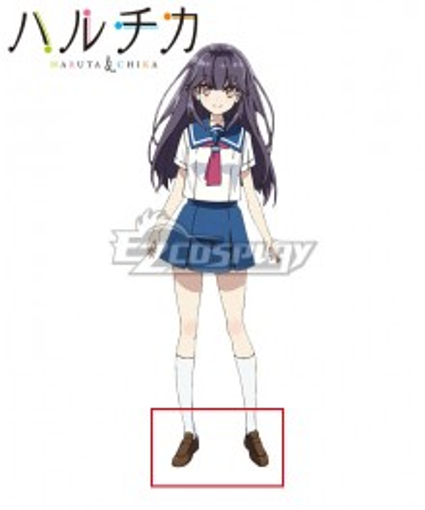 Haruchika: Haruta to Chika wa Seishun Suru Chika Homura Brown Cosplay Shoes