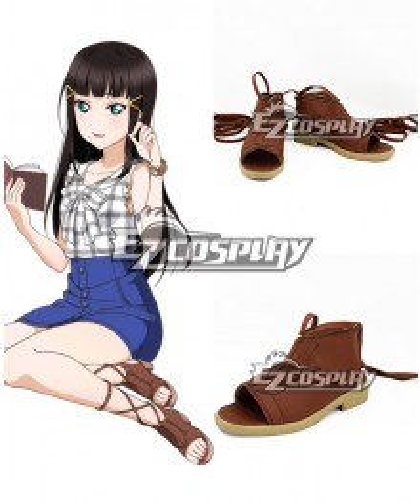 Love Live! Sunshine!! Kurosawa Dia Brown Cosplay Shoes