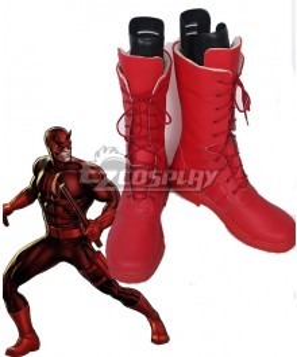 Marvel Daredevil Matt Murdock Daredevil Red Shoes Cosplay Boots