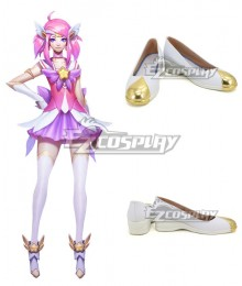 League of Legends LOL Star Guardian Lux Purple Cosplay Shoes