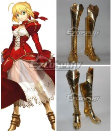 Fate EXTRA Last Encore Nero Claudius Caesar Augustus Germanicus Red Saber Golden Shoes Cosplay Boots