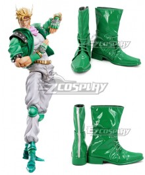 JoJo's Bizarre Adventure Caesar Anthonio Zeppeli Green Shoes Cosplay Boots