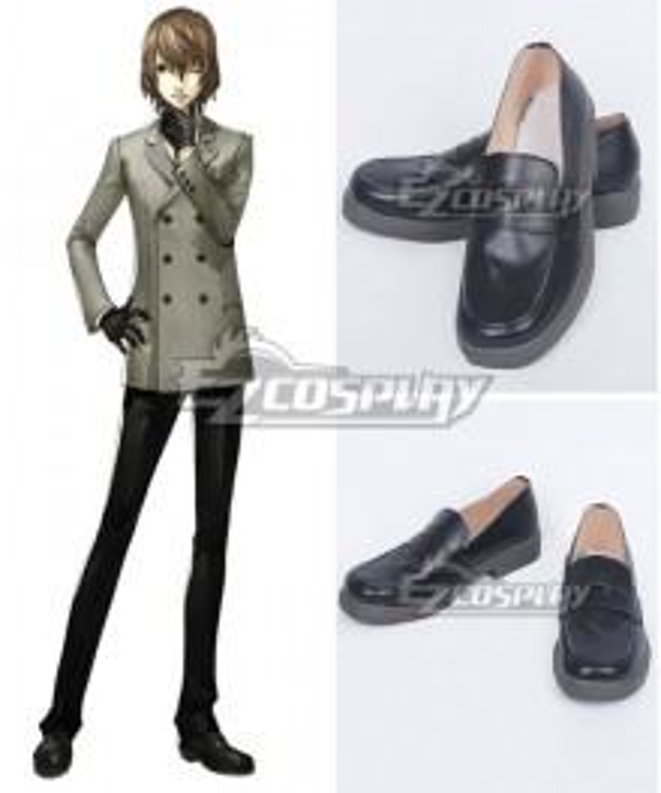 Persona 5 Goro Akechi Yusuke Kitagawa Black Cosplay Shoes - A Edition