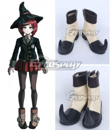 Danganronpa V3: Killing Harmony Himiko Yumeno Black Beige Shoes Cosplay Boots