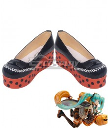 Vocaloid Hatsune Miku Trick or Miku Figure 2017 Halloween Black Cosplay Shoes
