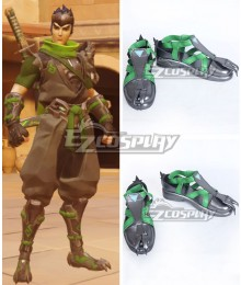 Overwatch OW Sparrow Genji Cosplay Shoes