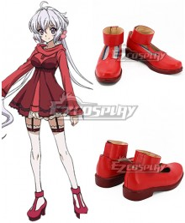 Senki Zesshou Symphogear Yukine Chris Red Cosplay Shoes