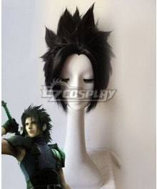 Crisis Core : Final Fantasy VII Zack Fair Black Cosplay Wig