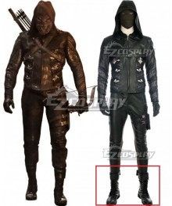 DC Arrow Season 5 Green Arrow Prometheus Black Shoes Cosplay Boots