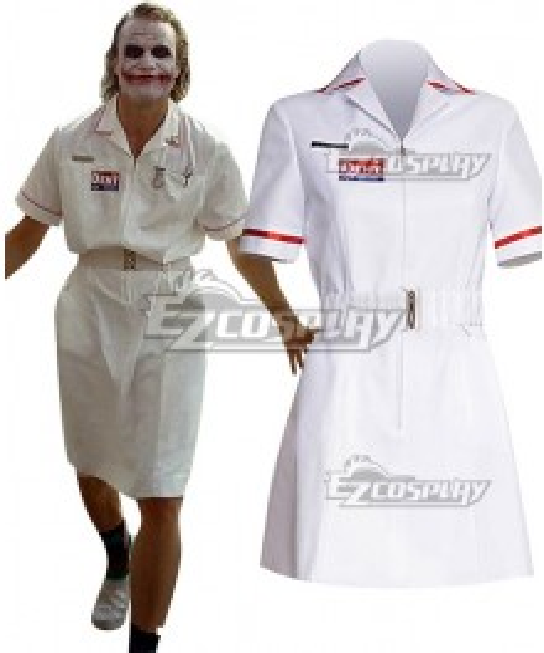 DC Batman The Dark Knight Joker Nurse Cosplay Costume - No Wig