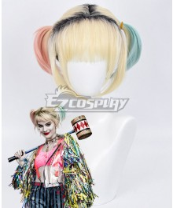 DC Birds of Prey Harley Quinn Golden Cosplay Wig