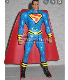 DC Earth 23 Kalel Superman Black Shoes Cosplay Boots
