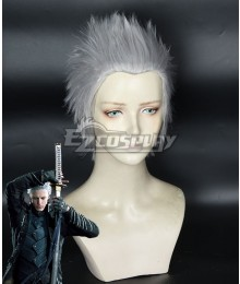 Devil May Cry 5 DMC5 Vergil Silver Cosplay Wig
