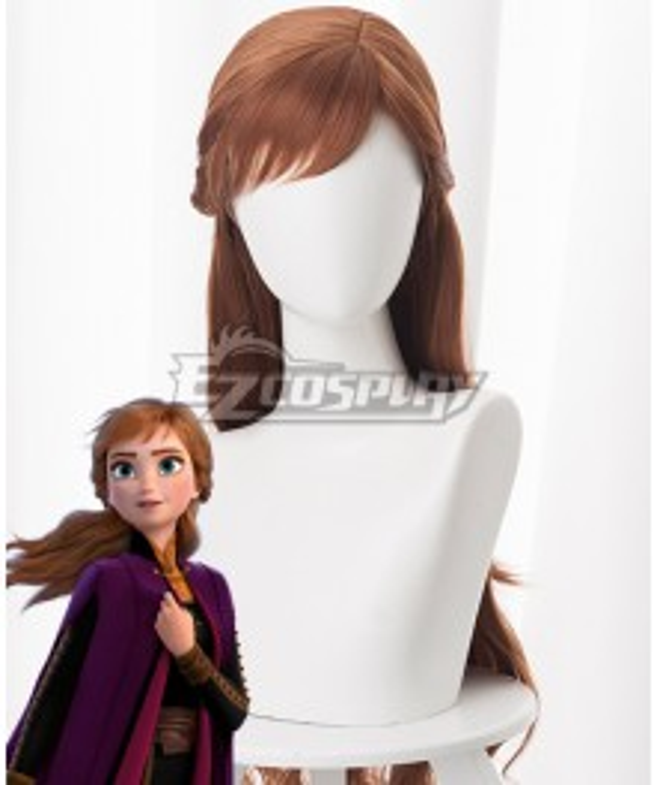 Disney Frozen 2 Anna Brown Cosplay Wig
