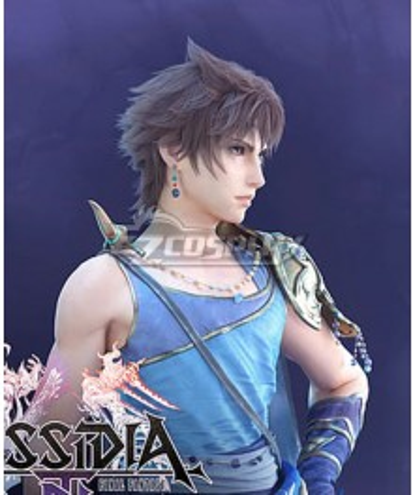 Dissidia Final Fantasy NT Bartz Klauser Brown Cosplay Wig