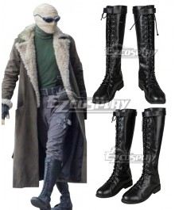 Doom Patrol Season 1 Negative Man  Larry Trainor Black Cosplay Shoes