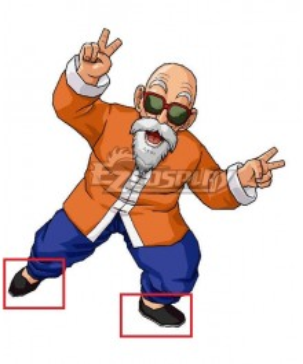 Dragon Ball Master Roshi Black Cosplay Shoes