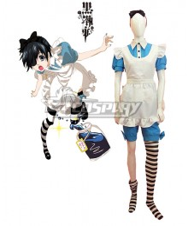 Black Butler Kuroshitsuji Ciel Phantomhive Maid Dress Cosplay Costume