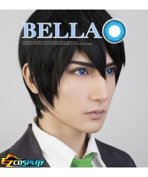 Bella Eye CosCon Free! Iwatobi Swim Club Iwatobi High School Nanase Haruka Blue Cosplay Contact Lense
