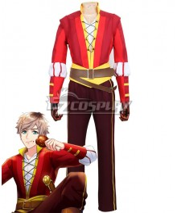 A3! AUTUMN Romeo and Juliet Tsuzuru Minagi Red Cosplay Costume