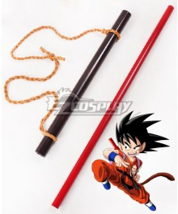 Dragon Ball Kid Son Goku Power Pole Stick Cosplay Weapon Prop